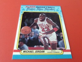 1988 / 89   MICHAEL  JORDAN  FLEER   SUPER  STAR  STICKER # 7   MINT  OR... - $174.99