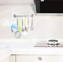 iRomic Suction Cup Hook Hanger Holder Rack Rail Towel Bar Organizer for Bathroom image 5