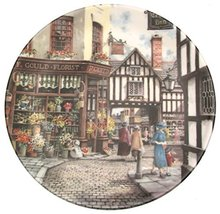 Bradford Exchange Royal Doulton The Flower Shop by Colin Warden - Window Shoppin - $31.84