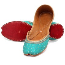 Blue Bridal Shoes, Embellished  Wedding shoes, sequin footwear, indian s... - $51.99