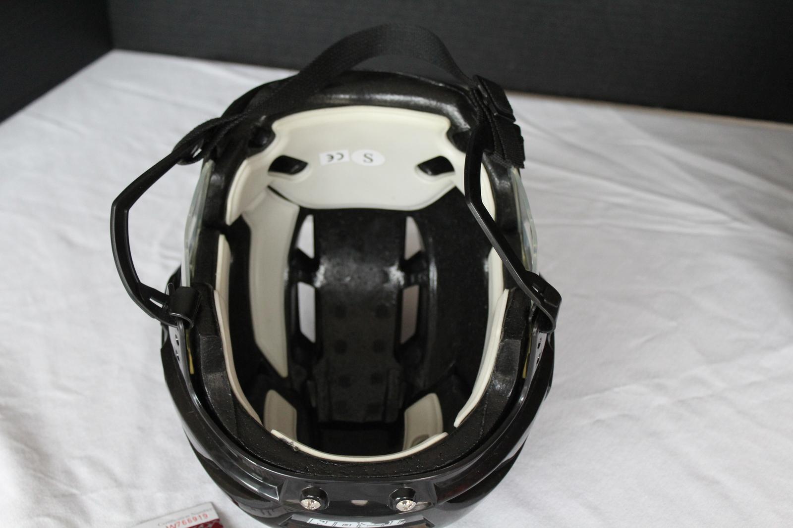 Andrew Shaw Chicago Blackhawks Autographed Full Size Black Hockey Helmet JSA COA