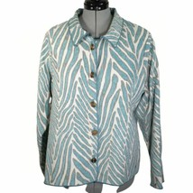 Winding River teal print reversible jacket, women's size 1X, made in USA - $38.73