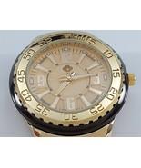 Louis Richard Pendragon Men's Watch: Black/Gold Case, White Silicone Ban... - $59.40