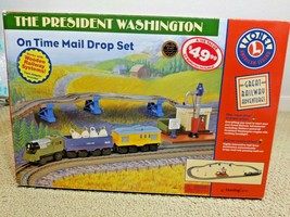 Lionel President Washington On Time Mail Drop Train Set Learning Curve Battery - $175.00