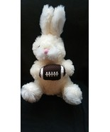 "Dandee Easter Bunny Football Rugby Rabbit Cream Sports Plush 11"" - $11.64"