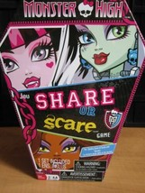 New Monster High Share Or Scare Board Game Complete - $7.99