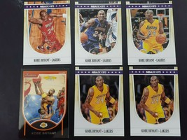 6 Kobe Bryant Basketball Lot NBA Cards Los Angeles Lakers bowman hoops - $15.68