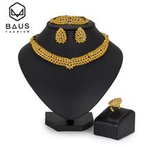 Nigerian bridal jewelry sets woman earrings 2018 Dubai Jewelry Sets Afri... - $30.86