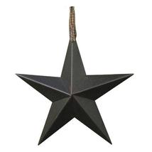 "Black Metal Barn Stars (Set of 6) 8"""