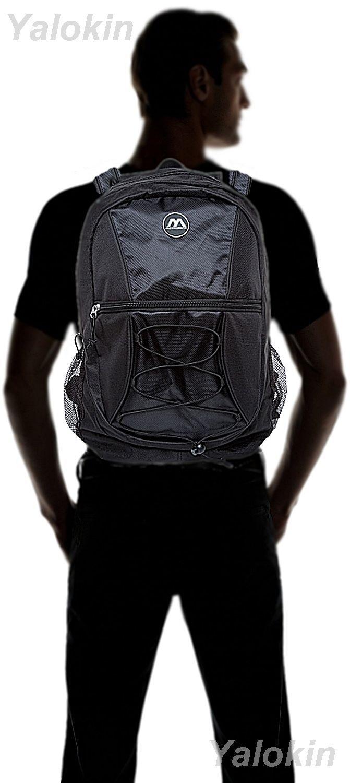 NEW Black Ripcord Lightweight Unisex Fashion Backpack Shoulder Book Bag