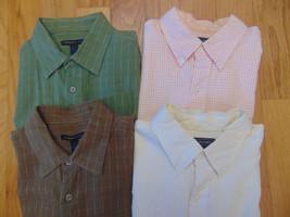 Men's Short Sleeve Shirts 16-16 1/2 Large-2 Van Heusen Studio & 2 Saddle... - $15.99