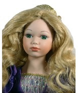 """Doll 16"""" Inches Tall Porcelain Hand Painted Princess Purple Dress (16BR) - $49.99"""