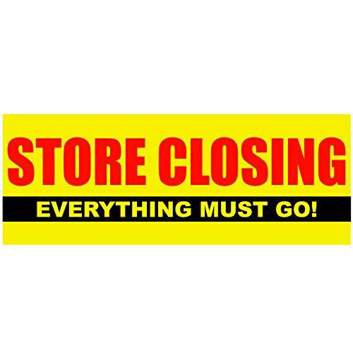BANNER BUZZ MAKE IT VISIBLE Store Closing Everything Must Go Theme Vinyl Sale Ba