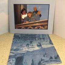 WALT DISNEY LITHO POSTER PICTURE PRINT LITHOGRAPH HUNCHBACK NOTRE DAME V... - $17.25