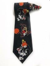 Looney Tunes Space Jam Taz Sylvester Tweety Basketball Cartoon Tie Vintage - $19.79