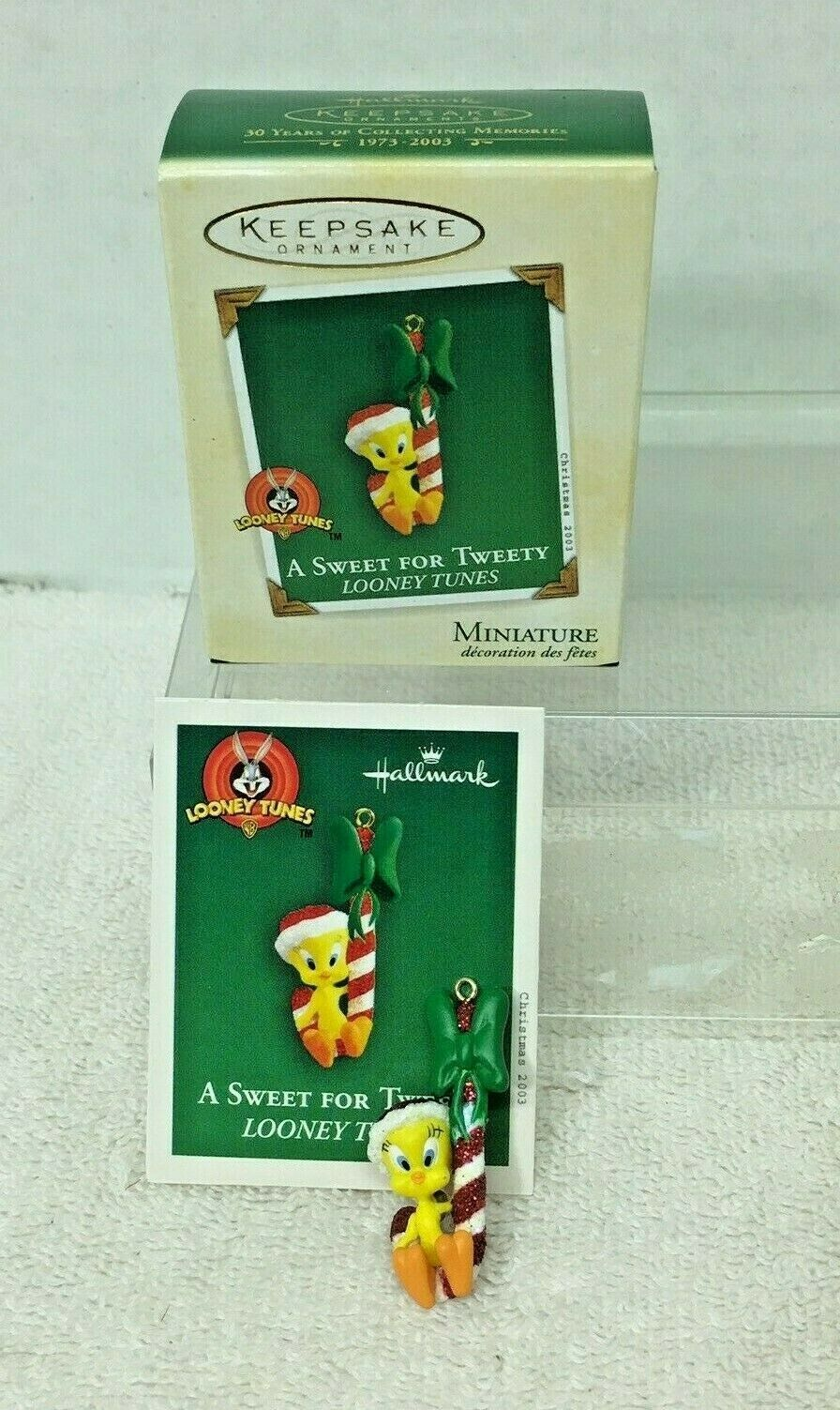 Primary image for 2003 Sweet for Tweety Looney Tune Miniature Hallmark Christmas Tree Ornament MIB