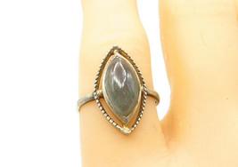 925 Sterling Silver - Vintage Marquise Cut Quartz Cocktail Ring Sz 7 - R... - $22.53
