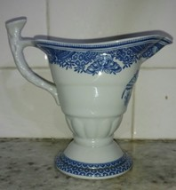 Spode Heritage Blue Cream Pitcher Eagle - $44.84