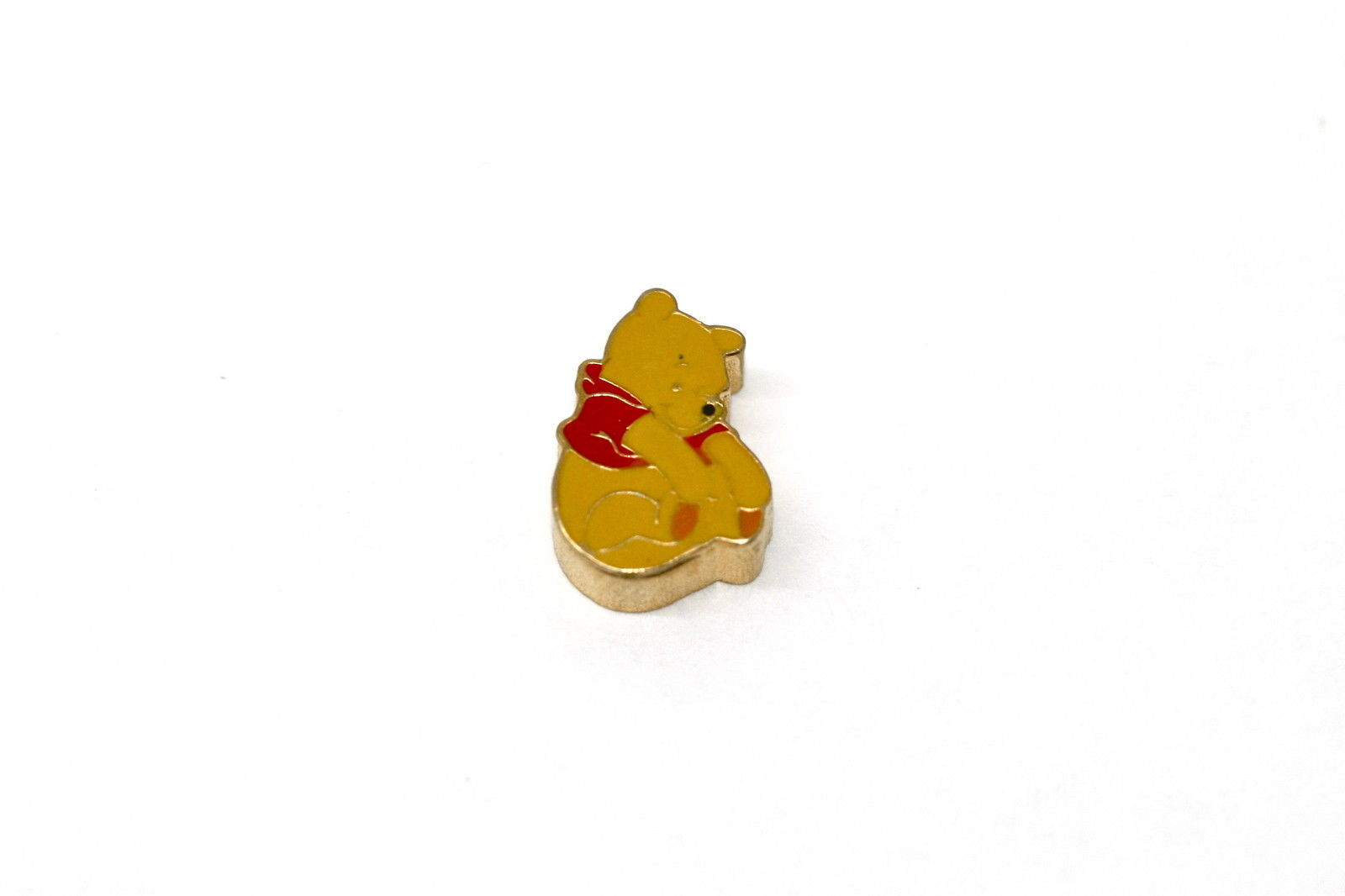 BRACCIALE DISNEY WINNIE THE POOH STAINLESS STEEL GOLD PLATED FLOATING CHARM