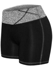 Women's W Sport Two Tone Athletic Work Out Fitness Stretch Gym Shorts AP-4815 image 14