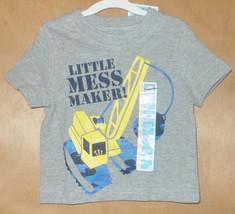 Circo Toddler Boys Gray Wreaking Ball Little Mess Maker T-SHIRT Size 12M... - $5.42