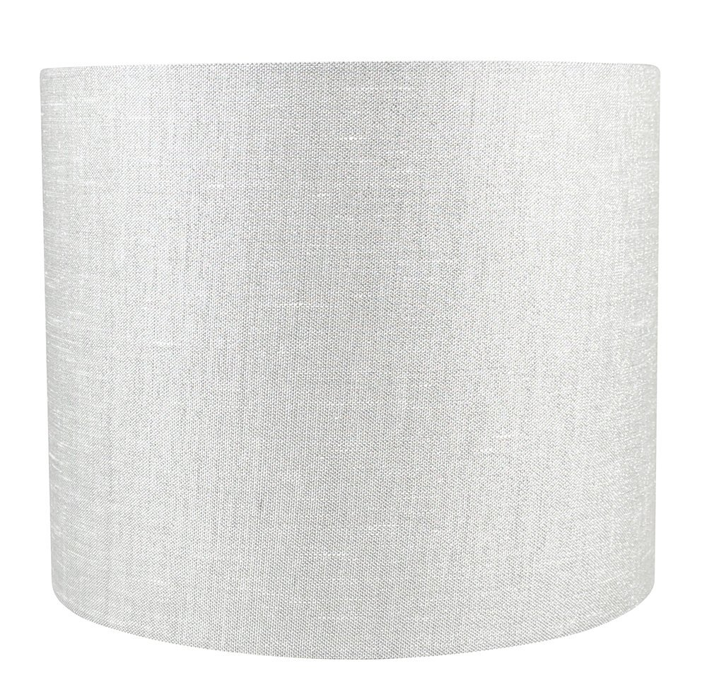 Urbanest Classic Drum Metallic Fabric Lampshade, 12-inch by 12-inch by 10-inch,