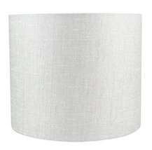 Urbanest Classic Drum Metallic Fabric Lampshade, 12-inch by 12-inch by 10-inch,  image 1