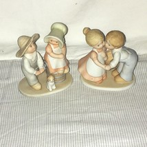 2 Homco Circle of Friends Masterpiece Figurines Boy Girl Taste & See, Fi... - $16.82