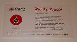 NEW American Red Cross Blood Donor 8 Gallon Pin Lapel Gift - $14.80