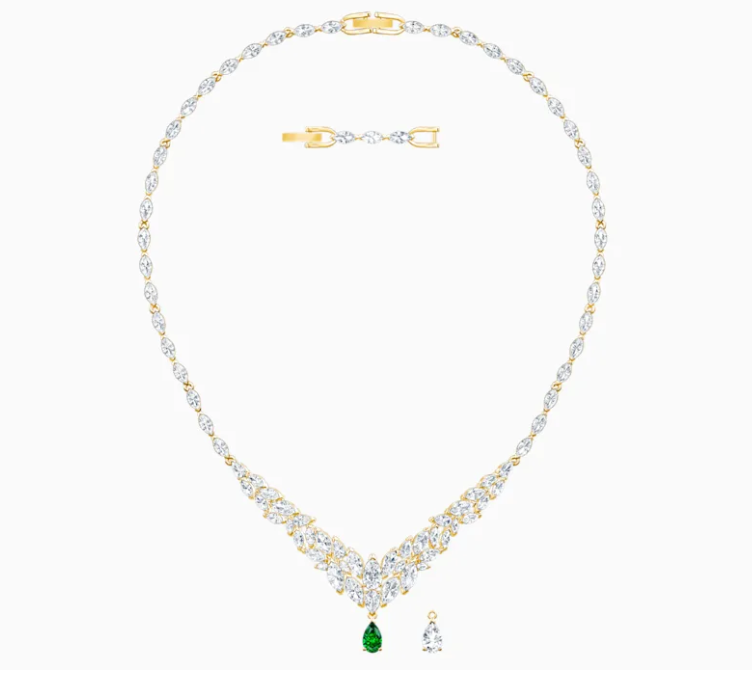 Primary image for LOUISON NECKLACE, WHITE, GOLD-TONE PLATED 5505862