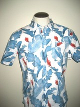 Vans Shoes Mens Bonsai button front SS 1 Pocket Shirt White Tropical Floral NWT - $29.74