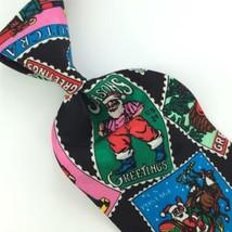 ADDICTION RED SANTA TRAIN NUTCRACKER Christmas Stamps Tie Necktie X6-143... - $19.79