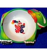 "New Hard Plastic Melamine Bowl  Elephant with Clown Circus 8"" - $6.40"