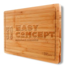 Extra Large Bamboo Cutting Board with Drip Groove by Easy Concept - Stro... - $13.87
