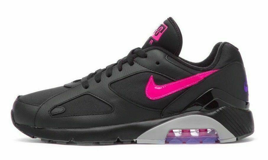 HOMME Nike Air Max 180 Chaussures Noir Rose Explosion Gris Aq9974 001 Pdsf