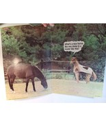 """Vintage 1981 Scholastic pin up Poster HORSE FUNNY COMEDY 21""""x16"""" - $15.00"""