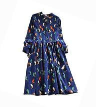 Stylish/Large Size/Quality Fabrics Maternity Dress(Navy blue)