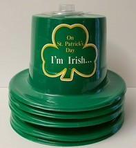 St Patrick's Day Top Hat W/I'm Irish - Plastic - Set Of 5 - NWT - €12,43 EUR
