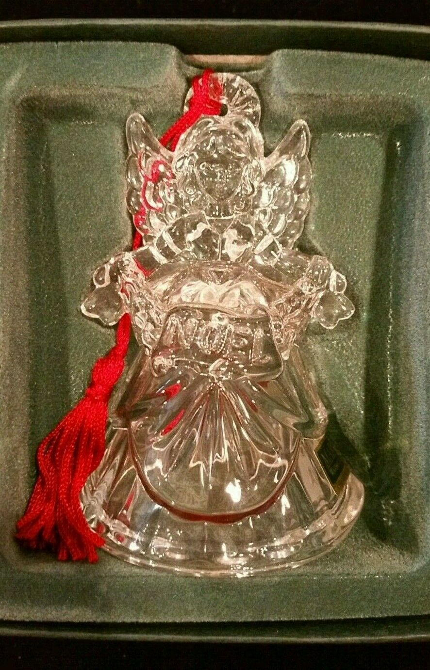 Waterford Crystal Marquis Noel Angel Bell Christmas Ornament Third in a Series image 8