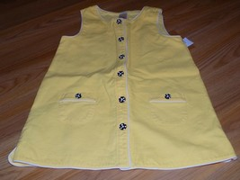 Girls Size 9 Gymboree Bee Chic Yellow Tunic Button Up Top Black White Buttons - $15.00