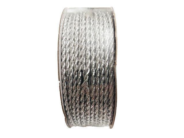Hobby Lobby Make It Christmas Silver Cord, 2mm