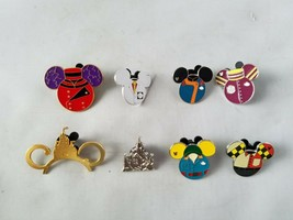 Disney Trading Pins Official Rides Theme + Bonus Set of 8 Collectible - $22.08