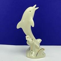 Dolphin figurine Lenox fine porcelain sculpture statue vintage gold porp... - $24.70