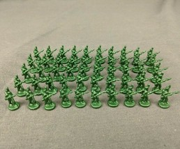 Risk 40th Anniversary Edition Board Game Metal Soldiers 50 Piece Set Green Army - $28.98