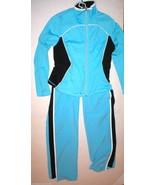 Womens St Johns Bay Track Jacket Nike Pants Blue Black White Set Medium ... - $23.60