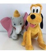 Disney Dumbo And Pluto Flying Elephant Dog Plush Stuffed Animal Kohl's C... - $29.69