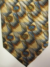 NEW $155 Robert Talbott Blue and Gold With Blue Flowers Silk Tie USA - $37.49