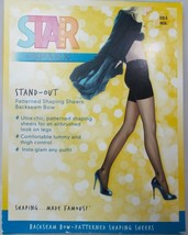 Spanx Star Power Stand-Out Backseam Bow Patterned Shaping Sheers Black S... - $12.82