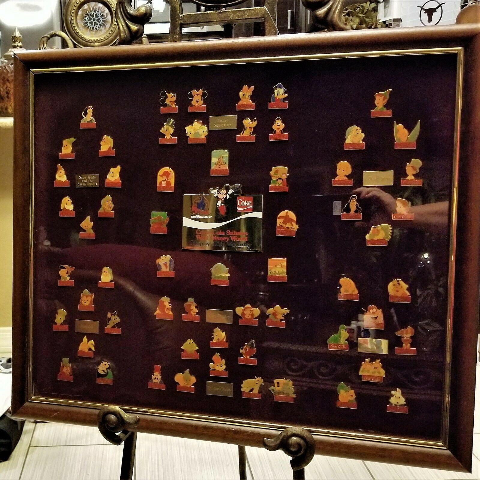 Original RARE NUMBERED Coca Cola WALT DISNEY WORLD 15th Birthday Framed Pin Set image 7