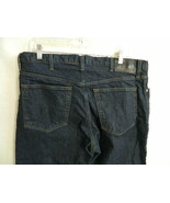 NWT Mens Eddie Bauer Plaid Flannel Lined Straight Fit Blue Jeans Size 38... - $59.99